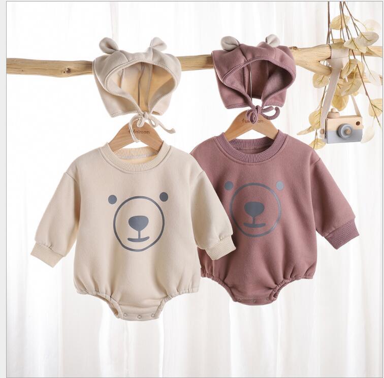 子供服 ロンパース 幼児 新生児 秋 かわいい クマ 個性 カジュアル トレンド 人気