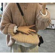 2021年秋冬新作 レディース 韓国風 セーター 長袖 防寒 厚手 優しい おしゃれ 3色フリー
