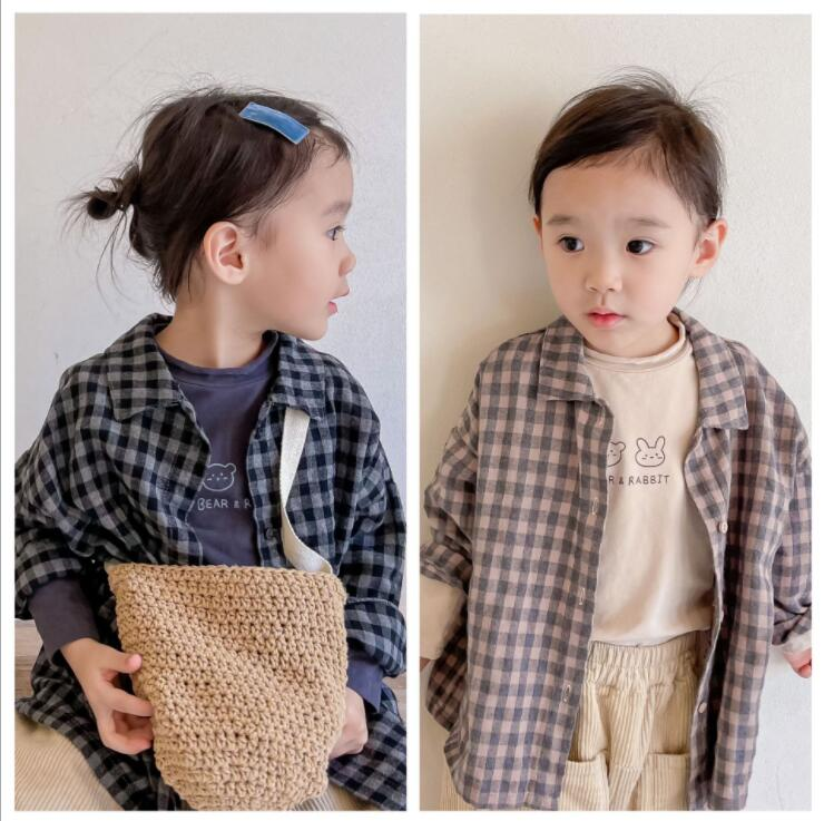 子供服 シャツ 長袖 キッズ 子ども 秋 チェック カジュアル トレンド かわいい 人気