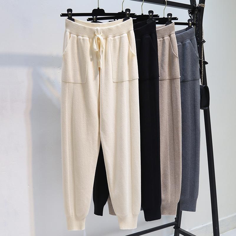 【Women】2021年春夏新作 韓国風レディース服 無地 パンツ  ゆったり