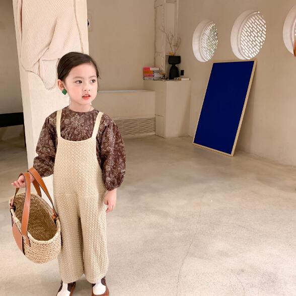 春秋 怠惰な風サロペット シャツ オーバーオール 子供服 キッズ カジュアル系 キッズ パンツ ズボン