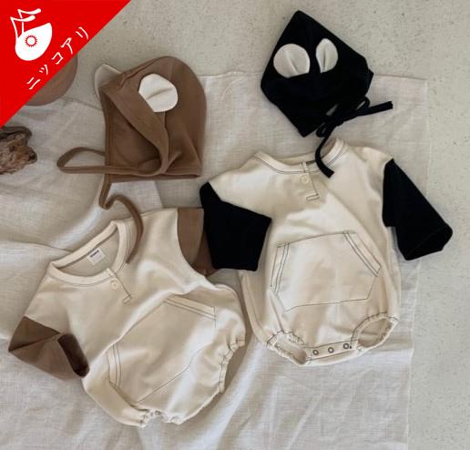 ベビー服 ロンパース 帽子 2点セット 赤ちゃん 女の子 男の子  子ども服