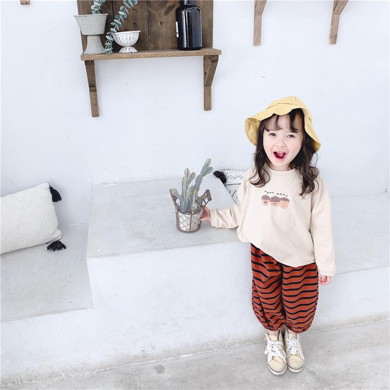 【KID】韓国風子供服 ベビー服 女の子 スマイル  長袖 トップス Tシャツ