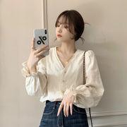 【Women】韓国風レディース服 レディース オシャレ  ブラウス セクシー