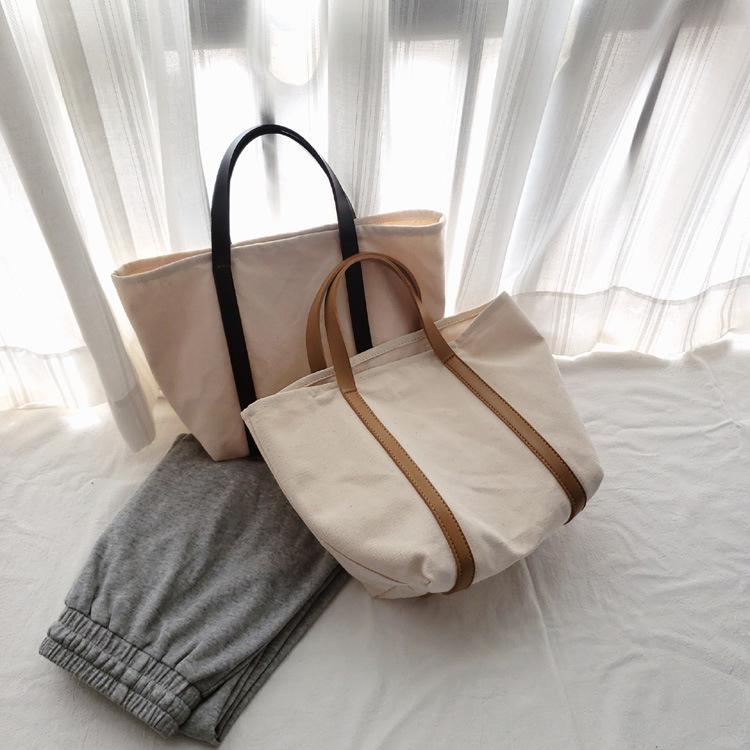 バッグ 鞄 かばん エコバッグ ハンドバッグ 帆布 肩掛け ハンドバッグ レディース シンプル