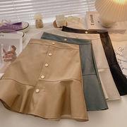 ハイウエスト 着やせ  ヒップカバー マチャプチャレの半身裙スカート 女 年 秋 韓国風