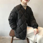 激安セール ダウンコットン 女性 ひし形 暖かい 厚手 コート 女性 新スタイル