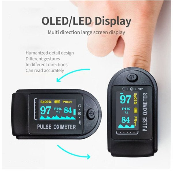 日本語説明書付き酸素飽和メーター(非医療機器) 心拍計 指 脈拍 測定器 家庭用