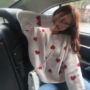 2021年秋冬 レーディス服 韓国風ファッション セータ 暖かい かわいい ハート