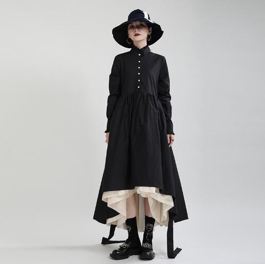 u18611 ワンピース 無地 レディース 長袖 可愛い ドレス ロングシャツ SALE