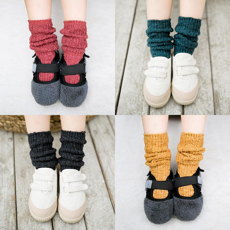 【KID】韓国風子供服 男女兼用 ソックス ins ニット 可愛い 靴下 無地