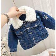 デニムコート 刺繍 キッズジャケット 普段着 長袖 子供服 厚手コート キッズ 日常用