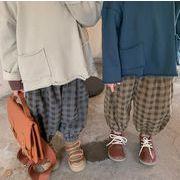 子供の秋のコーデュロイの格子のカジュアルなズボン2021男女の赤ちゃん百合洋気の提灯9分ズボン