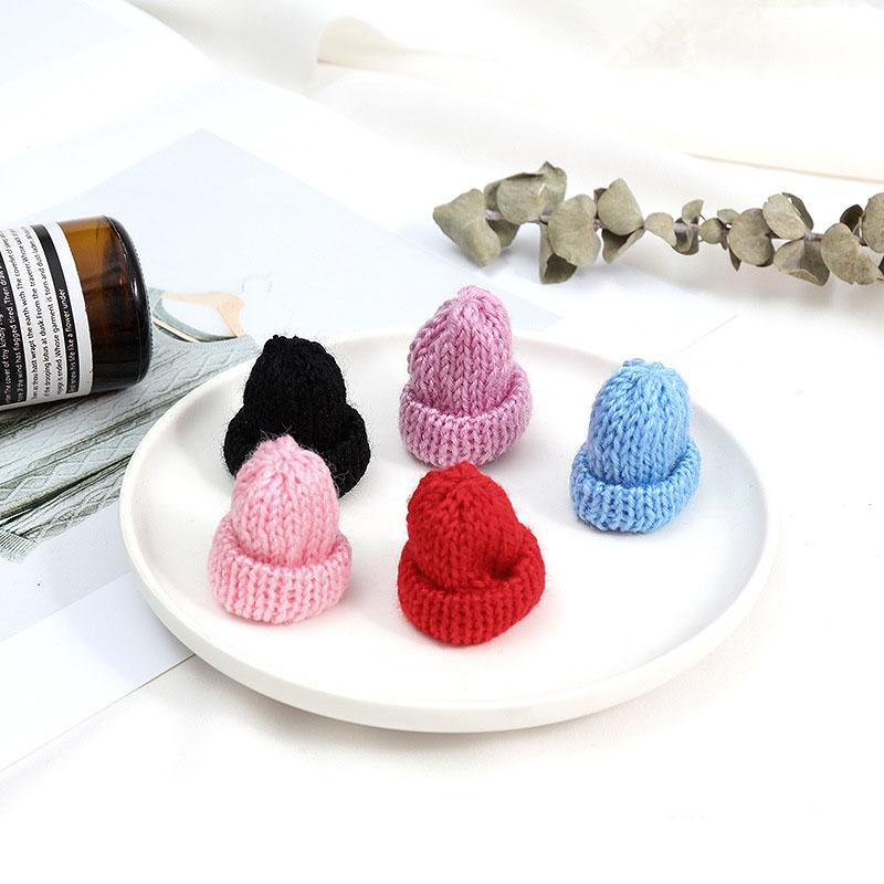 ミニニット帽 ハンドメイド 人形 パーツ 帽子 手芸素材 ドールチャーム ハット アクセサリーパーツ