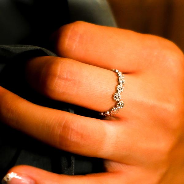 ボヘミアンリゾート リング フリーサイズ 指輪 花 フラワー ステンレス 金属アレルギー対応 インスタ