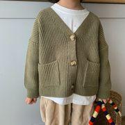 韓国子供服 カーディガン コート ニットセーター 男女兼用 可愛い 秋服