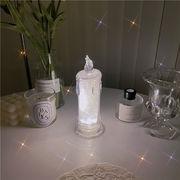 常夜灯 寝室 ベッドサイド シミュレーションキャンドル LED 装飾ライト