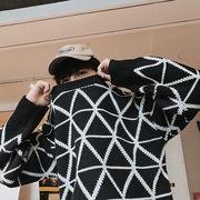 ユニセックス メンズ ニット セーター トップス カジュアル 大きいサイズ ストリート系 渋谷風☆