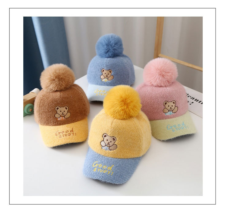 帽子 キャップ キッズ 子ども 秋冬 暖か もこもこ ポンポン かわいい トレンド 人気