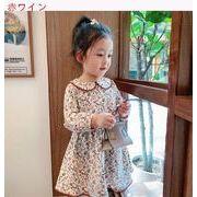 女児 長袖 ワンピース 秋服 新しいしいデザイン 新しい スタイル 女 赤ちゃん レトロ