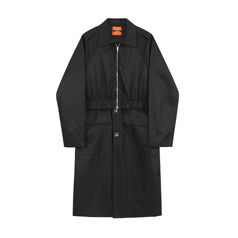 ユニセックス メンズ ロングコート ジャケット アウター カジュアル 大きいサイズ ストリート系
