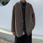 爽やかに見えます 韓国ファッション スーツ ゆったりする スリム カジュアル ギャザリング コート