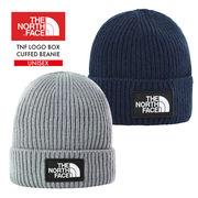TNF LOGO BOX CUFFED BEANIE NF0A3FJX ビーニー ニット帽