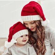 クリスマス帽子 クリスマス飾り物 可愛い帽子 サンタクロースハットニットクリスマス帽