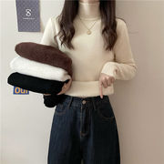 ハーフハイカラー 女 秋冬 新しいデザイン 着やせ ニット プラス厚いビロード セーター