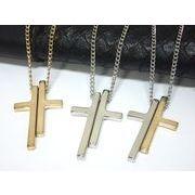 ダブルクロスネックレス・十字架