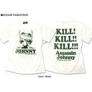 ★大人気!★殺し屋ジョニーパロディカートゥーンキャラクタープリントTシャツ