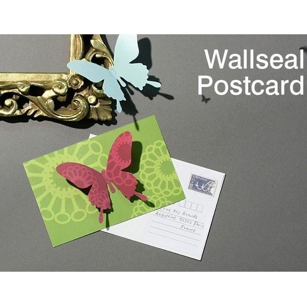"""蝶が舞うポストカード!""""Wallseal post card(4セット)"""""""