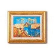 ゴッホ名画額F6金 「アルルのはね橋」 1705140