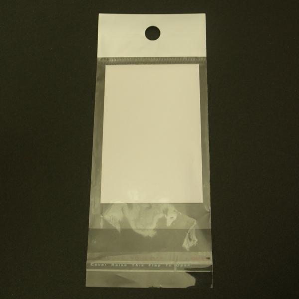 OPP袋ヘッダー付★(台紙付き)★ 200枚セット <お徳用> 透明 ディスプレイ用品 梱包 ラッピング 包装