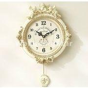ゴールデンエンジェルラウンド振り子時計w/電波時計