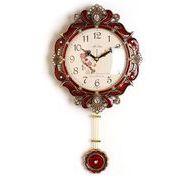 ビクトリー掛け時計-red