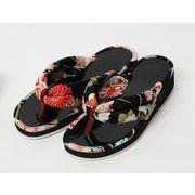 ■お洒落な下駄とサンダルの歩きやすさを兼ね備えた日本製和柄鼻緒サンダル/着物浴衣/