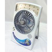 【訳あり】あれば便利!持ち運び便利なライト付き卓上扇風機/コンセントとUSBに対応