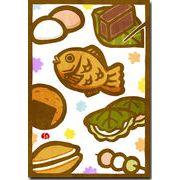 切り絵ポストカード 和菓子