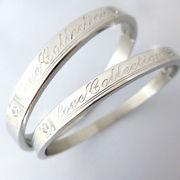 ステンレス ジュエリー 「Love collection」 クリスタル デザイン ブレス レット