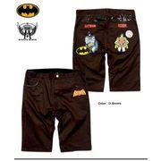 ★入手困難!★アメコミヒーロー「BATMAN (バットマン)」のプリント&刺繍チノショートパンツ!★
