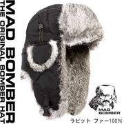 304BLK MAD BOMBER  ロシア帽子 マッドボンバー ラビットファー100% 帽子