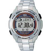 【CITIZEN】シチズン Q&Q ソーラー電源デジタル電波 メンズ腕時計MHS7-200