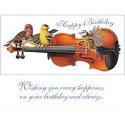 Stockwell Greetings グリーティングカード バースデー 鳥×ヴァイオリン