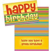 Stockwell Greetings グリーティングカード バースデー メッセージ×ストライプ