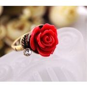 可愛い薔薇の指輪 リング 赤 黒 白 AT-168