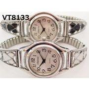 VITAROSOレディース腕時計 ジャバラベルト 日本製ムーブメント 見やすい文字盤