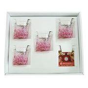 【感謝をこめて沖縄伝統工芸品を贈ります】陽桜三角でこぼこグラス4個ギフトセット