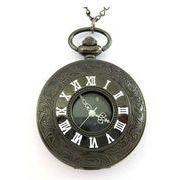■懐中時計■  ネックレス時計  ホワイト文字 ブラック