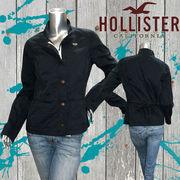 正規品【Hollister】ホリスター★レディース★ロゴ★カモメ★ボタン付き★ジャケット ネイビー